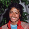 Michael Jackson wearing his signature red leather jacket at the opening of the stage musical, 'Dream Girls,' Los Angeles in 1983