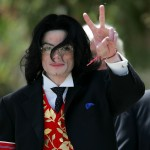 Michael Jackson leaves the Santa Barbara County Courthouse after another day of proceedings in his child molestation trial in Santa Monica on May 13, 2005
