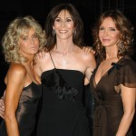 Farrah Fawcett with her former &#8216;Angels&#8217; co-stars Kate Jackson and Jaclyn Smith in 2006