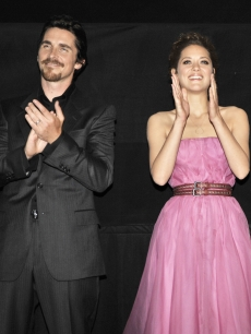 Christian Bale and Marion Cotillard are all smiles at the premiere of &#8216;Public Enemies&#8217; on June 18, 2009 in Chicago