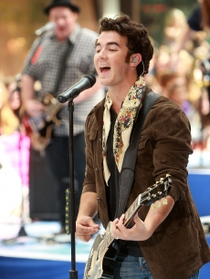 Kevin Jonas rocks on NBC's 'Today' at Rockefeller Center on June 19, 2009 in New York City