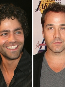 Adrian Grenier and Jeremy Piven Come Out For The Lakers Victory Party  
