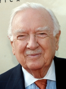 Walter Cronkite attends the Tony Awards Party in Los Angeles on June 2, 2002