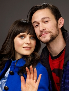 Zooey Deschanel and Joseph Gordon-Levitt, posing at the Sundance Film Festival, star together in '(500) Days Of Summer'
