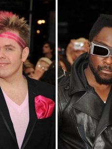 Perez Hilton and Will.I.Am at the 20th Annual MuchMusic Video Awards on June 21, 2009 in Toronto