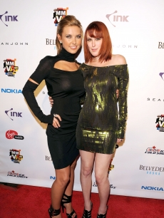 Audrina Partridge and Rumer Willis shines on the red carpet at the 20th Annual MMVA's After Party at Ultra on June 21, 2009 in Toronto, Canada