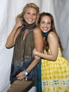 Christie Brinkley and Alexa Ray Joel are all smiles at the 6th annual Starlight Ball on June 20, 2009 in East Hampton, New York