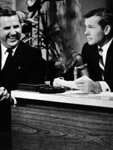 Ed McMahon and Johnny Carson on 'The Tonight Show' set in January 1960