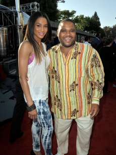 Ciara and Anthony Anderson strike a pose at the premiere of  'Transformers: Revenge Of The Fallen' in Los Angeles on June 22, 2009