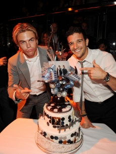 Derek Hough and Mark Ballas celebrate their birthdays at The Bank Nightclub at the Bellagio Hotel & Casino in Las Vegas on June 5, 2009