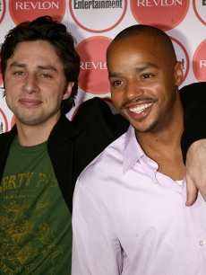 Zach Braff and Donald Faison arrive for Entertainment Weekly's 4th Annual Pre-Emmy Party on August 26, 2006 in Los Angeles