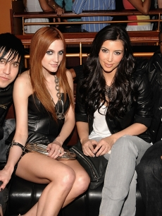 Pete Wentz, Ashlee Simpson, Kim Kardashian and Reggie Bush attend the AXE Instinct launch party at the Hard Rock Live on June 24, 2009 in New York City