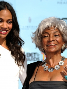 Two generations of 'Star Trek' - Zoe Saldana and NIchelle Nichols at the BET Awards on June 28, 2009