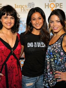 Carla Gugino, Emmanuelle Chriqui and Jenna Dewan arrive at the Raise Hope for the Congo event in Los Angeles on June 28, 2009 