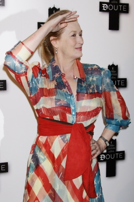 Meryl Streep attends the 'Doubt' photocall in Paris, France on January 19, 2009