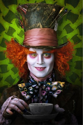 Johnny Depp stars as the Mad Hatter in Tim Burton's 'Alice In Wonderland'