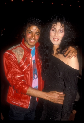 Michael Jackson & Cher cuddle up at the 'Dreamgirls' opening night after party at the Shubert theater in Century City, March 20, 1983