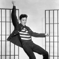 "Elvis Presley in ""Jailhouse Rock"" on January 1, 1957"