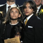 Paris, Blanket and Prince Michael I at the public memorial for Michael Jackson, Los Angeles, July 7, 2009