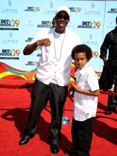 Arsenio Hall and arrive son Arsenio Jr. arrive at the 2009 BET Awards held at the Shrine Auditorium in Los Angeles on June 28, 2009