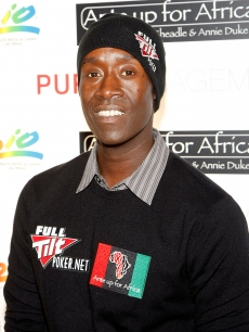 Don Cheadle hits the red carpet at the 'Ante Up for Africa' celebrity poker tournament in Las Vegas on July 2, 2009