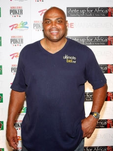 NBA player Charles Barkley arrives at the &#8216;Ante Up for Africa&#8217; celebrity poker tournament in Las Vegas on July 2, 2009
