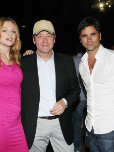 Heather Graham, Kevin Spacey and John Stamos attend the 2009 Essence Music Festival at the Louisiana Superdome, July 3, 2009