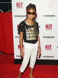 Willow Smith attends the premiere of 'Kit Kittredge: An American Girl' in NYC on June 19, 2008