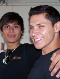 Alex Meraz and Kiowa Gordan flash their werewolf grins