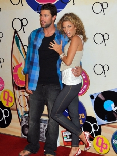 Brody Jenner and AnnaLynne McCord step at the Open Campus launch party at Mel's Diner on July 7, 2009 in West Hollywood