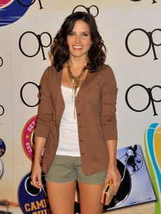 Sophia Bush is all smiles at the OP Open Campus launch party at Mel&#8217;s Diner in West Hollywood on July 7, 2009 