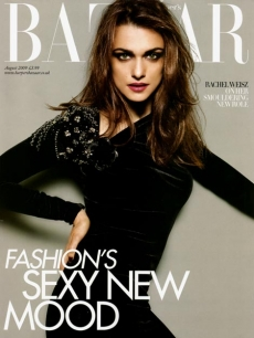 Rachel Weisz on the cover of the British version of Harper&#8217;s Bazaar, August 2009