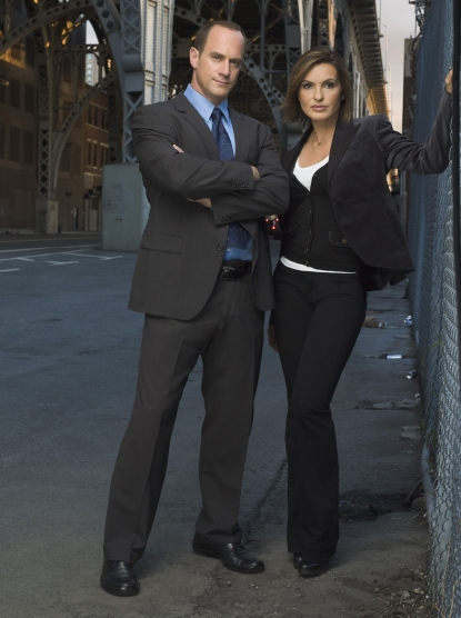 Christopher Meloni and Mariska Hargitay in 'Law & Order: SVU'