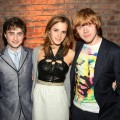 Daniel Radcliff, Emma Watson, and Rupert Grint are all smiles at the &#8216;Harry Potter and the Half Blood Prince&#8217; premiere after party at Museum of Natural History in New York City on July 9, 2009 