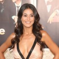 Emmanuelle Chriqui looks glamorous at the premiere of HBO's 'Entourage' Season 6 in Los Angeles on July 9, 2009