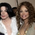 Michael Jackson and La Toya Jackson backstage at the 2003 BET Awards