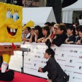 SpongeBob SquarePants arrives at the MTV Video Music Awards Japan, at the Saitama Super Arena on May 26, 2007