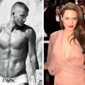 David Beckham and Angelina Jolie