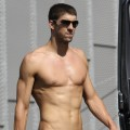 Michael Phelps in Italy on July 17, 2009
