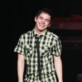 David Archuleta shows his smile onstage at the Nokia Theatre L.A. Live in LA on July 17, 2009