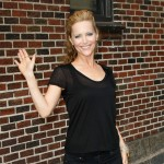 Leslie Mann visits the 'Late Show With David Letterman' in New York City on July 22, 2009
