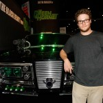 Seth Rogen unveils Black Beauty, the featured car from 'The Green Hornet' during Comic-Con 2009 Preview Night in San Diego on July 22, 2009