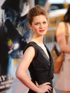 Bonnie Wright stuns on the red carpet at the premiere of 'Harry Potter and the Half-Blood Prince' in New York City on July 9, 2009 in New York City
