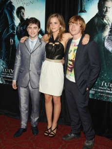 Daniel Radcliffe, Emma Watson and Rupert Grint hit the red carpet at the 'Harry Potter and the Half-Blood Prince' premiere in New York City on July 9, 2009