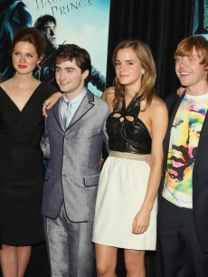 Freddie Stroma, Bonnie Wright, Daniel Radcliffe, Emma Watson, Rupert Grint and Tom Felton arrive to the 'Harry Potter and the Half-Blood Prince' premiere in New York City on July 9, 2009