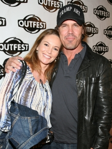 Diane Lane and Josh Brolin keep it casual at the 2009 Outfest opening night gala of 'La Mission' in Los Angeles on July 9, 2009