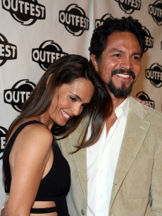 Benjamin Bratt and wife Talisa Soto are all smiles at the 2009 Outfest opening night gala of 'La Mission' in New York City on July 9, 2009