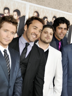 Jerry Ferrara, Jeremy Piven, Kevin Connolly, Adrian Grenier and Kevin Dillon strike a pose at the premiere of HBO&#8217;s &#8216;Entourage&#8217; - Season 6 in Los Angeles on July 9, 2009 