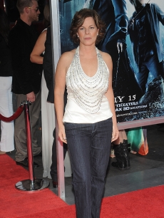 Marcia Gay Harden attends the premiere of 'Harry Potter and the Half-Blood Prince' in New York City on July 9, 2009