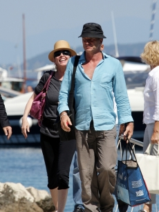 Sting and Trudie Styler arrive to the Ischia Global Film and Music Festival in Ischia, Italy on July 12, 2009